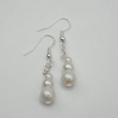 Triple Bead Dangle Earrings